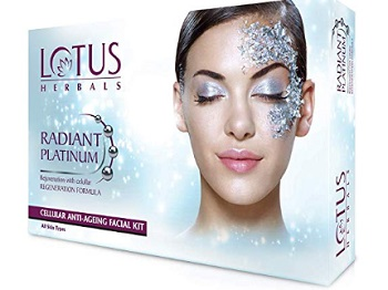 Lotus Herbals Radiant Platinum Facial Kit