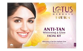 Lotus Safe Sun Anti Tan Whitening and Glow Facial Kit