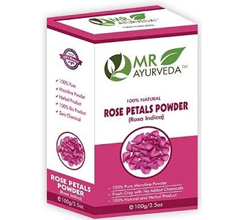 MR Ayurveda 100% Organic Rose Petals Powder