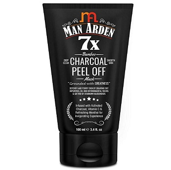Man Arden 7X Activated Charcoal Peel Off Mask