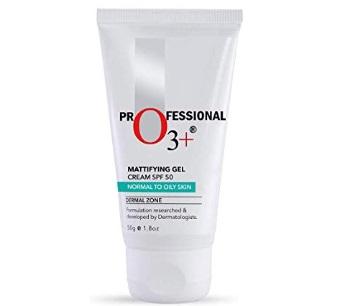 O3+ Mattifying Gel Cream SPF 50 for Preventing Sun Tan