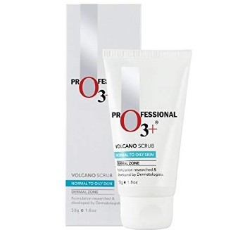 O3+ Volcano Scrub for Exfoliation, Deep Cleansing, Blackhead Removal and Pore Minimization