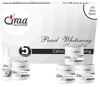 QRAA Pearl Whitening Facial Kit