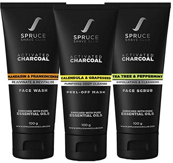 Spruce Shave Club Charcoal Facial Cleansing Kit