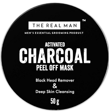 The Real Man Blackhead Remover & Deep Skin Cleansing Charcoal Peel Off Mask