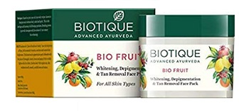 Biotique Bio Fruit Whitening and Depigmentation and Tan Removal Face Pack