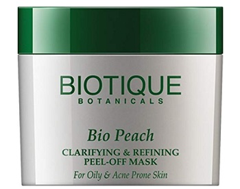 Biotique Bio Peach Clarifying and Refining Peel-Off Mask For Oily & Acne Prone Skin