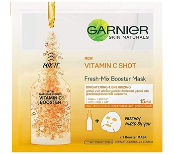 Garnier Fresh Mix Vitamin C Face Serum Sheet Mask