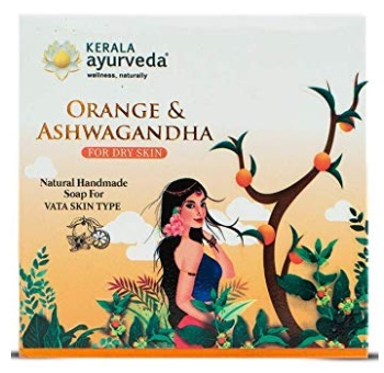 Kerala Ayurveda Natural Handmade Orange & Ashwagandha Soap
