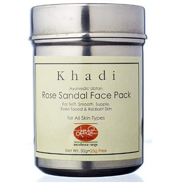 Khadi Mauri Herbal Rose Sandal Face Pack
