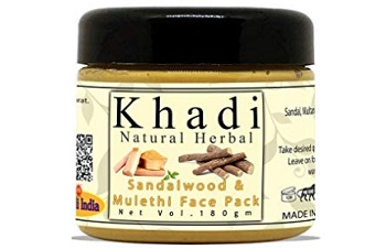 Khadi Natural Herbal Sandalwood and Mulethi Face Pack Mask