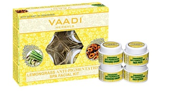 Vaadi Herbals Lemongrass Anti Pigmentation Spa Facial Kit with Cedarwood Extract