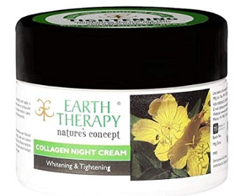 EARTH THERAPY Whitening & Tightening Collagen Night Cream