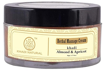 Khadi Natural Almond and Apricot Herbal Massage Cream