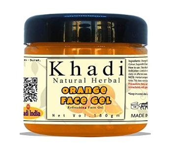 Khadi Natural Herbal Refreshing Orange Face Gel Moisturiser