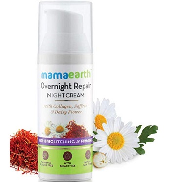 Mamaearth Skin Repair Night Cream for Glowing Skin