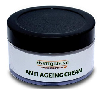 Mystiq Living - Anti Ageing Cream with Natural Ingredients and Hyaluronic Acid