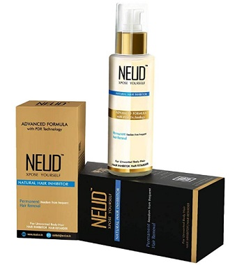 NEUD Natural Hair Inhibitor for Permanent Reduction