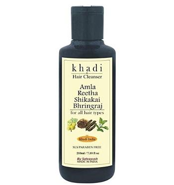 Satvayush Khadi Amla, Reetha, Shikakai, Bhringraj Herbal Natural SLS-Paraben free Shampoo