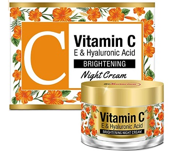 StBotanica Vitamin C, E & Hyaluronic Acid Brightening Night Cream