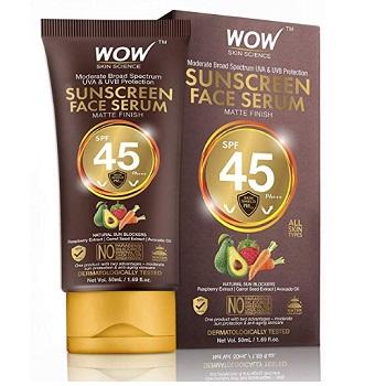 WOW Skin Science Matte Finish Sunscreen Face Serum SPF 45