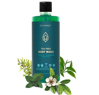 D'VENCE Tea Tree Oil Body Wash With Eucalyptus Oil and Peppermint Oil