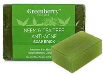 Greenberry Organics Neem & Tea Tree Anti-Acne Soap