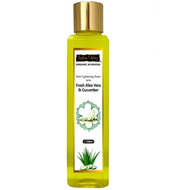 Indus Valley Organic Ayurveda Fresh Aloe Vera and Cucumber Water Pore Tightening Skin Toner