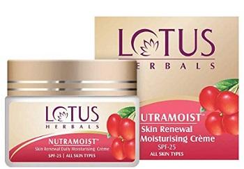 Lotus Herbals Nutramoist Skin Renewal Daily Moisturising Creme SPF 25