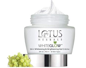 Lotus Herbals Whiteglow Skin Whitening And Brightening Gel Creme SPF-25