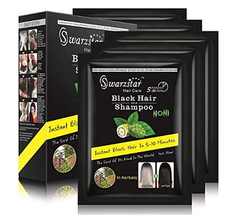 Swarzstar Hair Color Shampoo Black