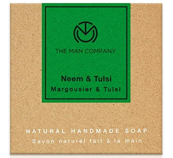 The Man Company Anti-Acne Neem & Tulsi Face And Body Exfoliating Soap