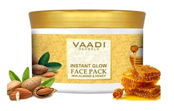Vaadi Herbals Instant Glow Face Pack, Almond and Honey
