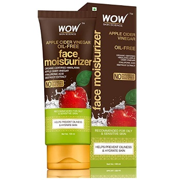 WOW Apple Cider Vinegar Face Moisturizer For Normal Oily and Acne Prone Skin