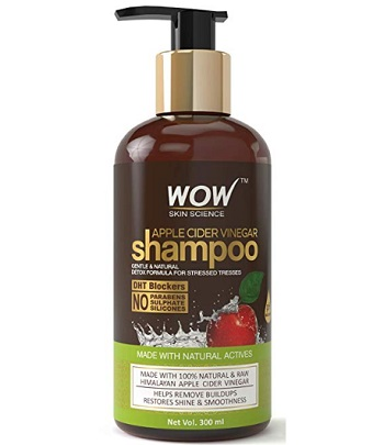 WOW Apple Cider Vinegar No Parabens & Sulphate Shampoo