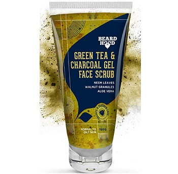 Beardhood Green Tea & Charcoal Gel Face Scrub