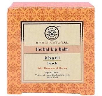 Khadi Natural Peach Lip Balm