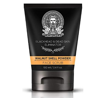 Whiskers Walnut Shell Powder Face Scrub For Men