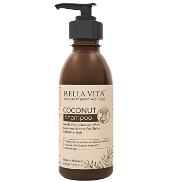 Bella Vita Organic Shampoo for Frizzy, Dry and Damaged Hair