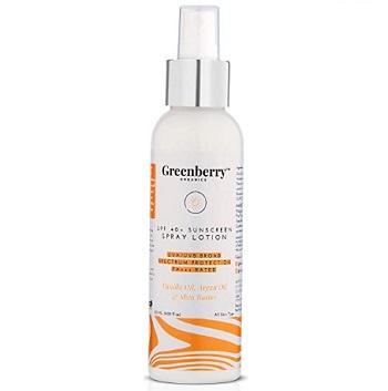 Greenberry Organics SPF 40+ Sunscreen Spray Lotion