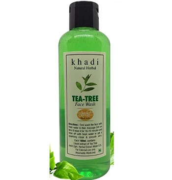 Khadi Herbal Natural SLS and Paraben-Free Tea Tree Foaming Face Wash