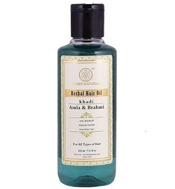 Khadi Natural Amla and Brahmi Herbal Hair Oil