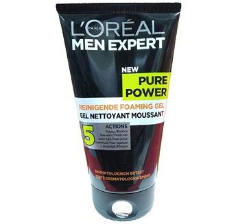 L'Oreal Paris Men Expert Pure Power Black Charcoal Foaming Gel Wash