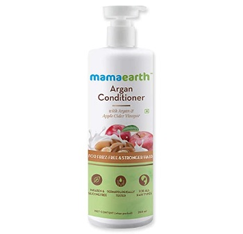Mamaearth Argan & Apple Cider Vinegar Shampoo for Frizz