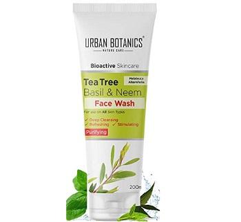 UrbanBotanics Tea Tree, Neem & Basil Face Wash