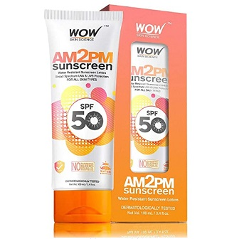 WOW AM2PM Water Resistant SPF 50 Sunscreen Lotion