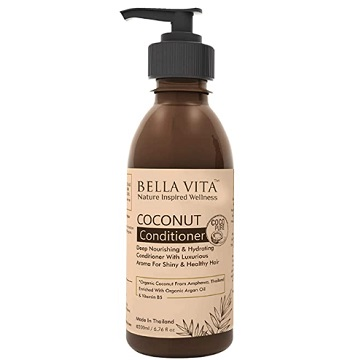 Bella Vita Organic Keratin Conditioner For Frizzy, Dry and Damaged Hair