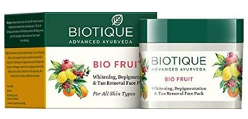 Biotique Bio Fruit Whitening and De-pigmentation & Tan Removal Face Pack