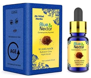Blue Nectar Kumkumadi Ayurvedic Radiance Glow Night Serum