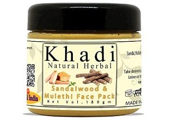 Khadi Natural Herbal Sandalwood and Mulethi Face Pack Mask